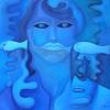 """Marion Lucka: Ölgemälde """"Schwimmen mit hellen Fischen"""" 50 x 50 cm (2011)"""