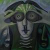 """Marion Lucka: Ölgemälde """"Vorwintergesicht"""" 50 x 50 cm (2017)"""