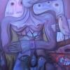 "Marion Lucka: Ölgemälde ""Windfrau"" 100 x 120 cm (2007)"