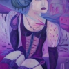Marion Lucka: Ölgemälde, Witwe, 70 x 100cm ((2011)
