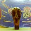 Marion Lucka:Marion Lucka: Indianer, Ton mit Gemälde (1995)