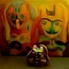 Marion Lucka: Indianer, Ton mit Indianergemälde (1995)