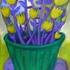 Marion Lucka: Stillleben mit gelben Blüten, 50 x 70 cm (2013)