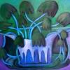 Marion Lucka: Glockenblumen in Grün, Öl, 40 x 50 cm (2013)