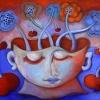 Marion Lucka: Stillleben mit Gesichtsvase, Öl, 50 x 60 cm (2014)