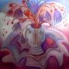 Marion Lucka: Stillleben mit Handschuhen, Öl, 100 x 100 cm (2010)