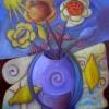 Marion Lucka: Stillleben mit Zitronenmuscheln 50 x 60 cm (2014)