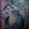 Marion Lucka: Stillleben mit Augen, Öl, 50 x 60 cm (2010)