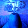 Marion Lucka: Stillleben in der Nacht, Öl, 60 x 100 cm (1999)