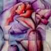 Marion Lucka: Stillleben mit Fischen, Öl, 70 x 80 cm (1988)
