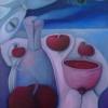 Marion Lucka: Stillleben mit Äpfeln3, Öl, 50 x 70cm (2005)