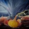 Marion Lucka: Stillleben mit Zwiebeln, Öl, 60 x 70 cm (1979)