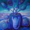 Marion Lucka: Blaustillleben, 40 x 50 cm (2006)