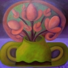 "Ölgemälde ""Herbstblumen"" 40 x 40 cm (2021)"
