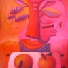 Marion Lucka: Stillleben mit Mund, Öl, 40 x 50 cm (2001)