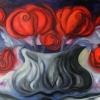 Marion Lucka: Stillleben mit roten Rosen, Öl, 50 x70 cm (2013)