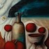 Marion Lucka: Stillleben mit Äpfeln1, Öl 30 x 40 cm (1989)