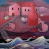 Marion Lucka: Stilleben am Wasser, Öl, 60 x 80 cm (2007)