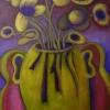 """Marion Lucka: """"Gelbe Blüten 2"""" 40 x 50 cm (2019)"""