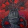 Marion Lucka: Stillleben mit Zahntuch, Öl, 50 x 60 cm (2014)