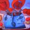 Marion Lucka: Stillleben mit Wasservase, Öl, 40 x 50 cm (2014)