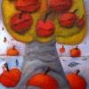 Marion Lucka: Apfelbaum, Öl, 30 x 40 cm (2013)