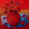 Marion Lucka: Augenstillleben, Öl, 50 x 50 cm (2006)