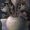 Marion Lucka: Stillleben in grau, Öl, 30 x 40 cm (2008)