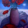 Marion Lucka: Stillleben bei Vollmond, 50 x 60 cm (2004))