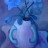 Marion Lucka: Stillleben mit blauen Rosen, Öl, 50 x 70 cm (2004)