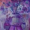 Marion Lucka: Stillleben der Zeichen, 100 x 100 cm (2010)
