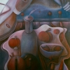 Marion Lucka: Stillleben mit Äpfeln2, Öl, 70 x 90 cm (1996)