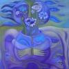 Marion Lucka: Stillleben mit Mundmargeriten, 80 x 80 cm (2015)