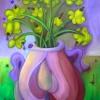 Marion Lucka: Stilleben mit gelben Blüten, Öl, 60 x 80 cm (2013)