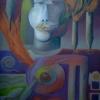 Marion Lucka: Vater, Öl, 60 x 80 cm (1995)