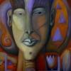 Marion Lucka: Pharao, Öl, 70 x 90 cm (1995)
