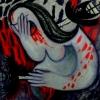 Marion Lucka: Schmerz, Öl, 80 x 80 cm (1998)