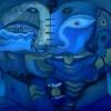 Marion Lucka: Wasserpaar, 100 x 120 cm (2006)
