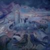 Marion Lucka: Thierstein in Blau, Öl, 50 x 60 cm (2011)