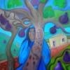 "Marion Lucka: Ölgemälde "" Am Feigenbaum"" 60 x 80 cm (2018)"