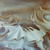 "Marion Lucka: Ölgemälde ""Andere Landschaft"" 50 x 60 cm (1980) sold"