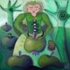 Marion Lucka: Apfelfee, Öl, 40 x 40 cm (2013)