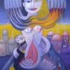 Marion Lucka: Bedrängnis, 40 x 50 cm (1997)