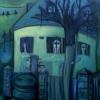 Marion Lucka: Dreifrauenhaus, Öl 60 x80 cm (2006)