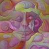 Marion Lucka: Gesicht im Raum, Öl, 50 x 60 cm(1989)