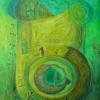"Marion Lucka: ""Grüne Sonne"" 50 x 40 cm (1994)"