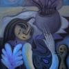 """Marion Lucka: Ölgemälde """" Juligespenster"""" 60 x 80 cm (2020)"""