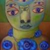 Marion Lucka: Julikatze 1, Öl, 20 x 30 cm (2017)