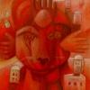 "Marion Lucka: Ölgemälde "" Marswächter"" 100 x 120 cm (2000)"