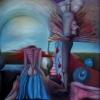 Marion Lucka: Opferung, Öl, 50 x60 cm (1989)